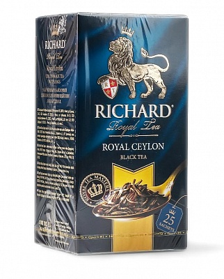 ЧАЙ ЧЕРНЫЙ RICHARD ROYAL CEYLON 25П*2Г